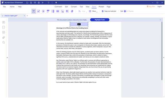 Editing a Pdf File Using an Interactive PDF Form